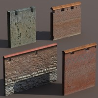3d castle walls modelled