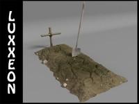 3d dirt grave model