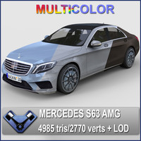 Mercedes S63 AMG 2014 (Multicolor)