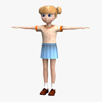 3d model little girl child