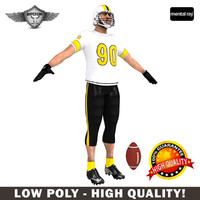 custom american football player 3d max