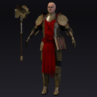 3d model of paladin low-poly