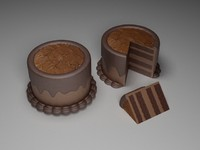 3ds max chocolate cake