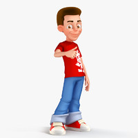 young man character 3d model