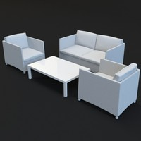 lounge outdoor garden 3d model