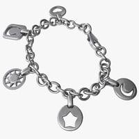 3d model charm bracelet