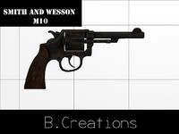 smith wesson m10 3d max