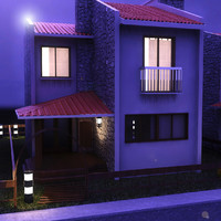 3d dublex villa day night