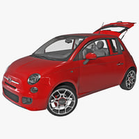 Fiat Convertible 500 2014 Rigged