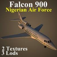 dassault falcon 900 fgn 3d max