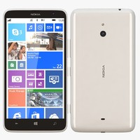3d nokia lumia 1320 white