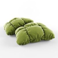 3d pillow poufs model