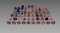 pack road signs 3d model