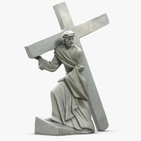 Sculpture Jesus With Cross