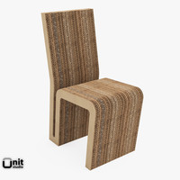 3d easy edge chair frank model