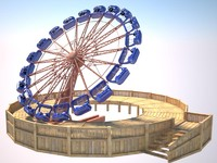 3d model rodeo round-up attraction