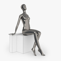 3d model slim female mannequins