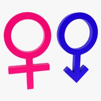 3d gender symbol model
