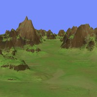 grassy terrain dm-01 3d model