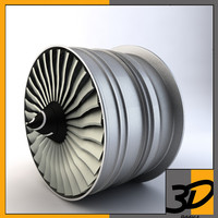 fan rolls royce 3d model