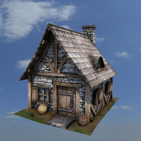 medieval house buildings 3d obj