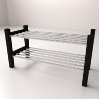 shoe rack 3d 3ds