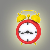 3d cartoon alarm clock model