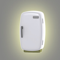 3d model cartoon refrigerator