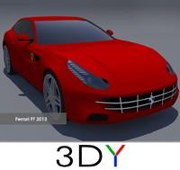 ferrari ff 2013 3d model