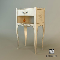 3d model bedside table salda