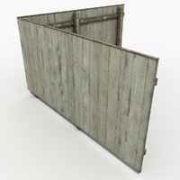 wooden fence wood 3d max