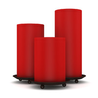 3d max red candles