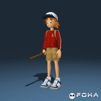 boy cartoon 3d blend