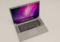 apple pro laptop 3d model