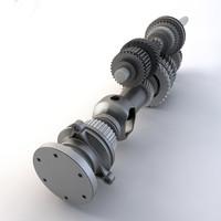 quattro gearbox 3d model