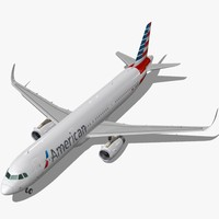 sharkleted airbus a321neo american airlines obj