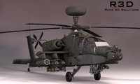 boeing apache helicopter 3d model