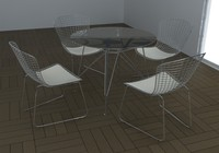 Bertoia table set