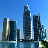 3d model of dubai marina