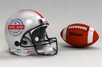 football helmet ball c4d
