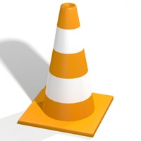 safety cone 3d max
