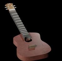 guitar wood 3d model