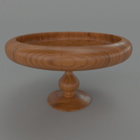 3d model of wooden fruit bowl