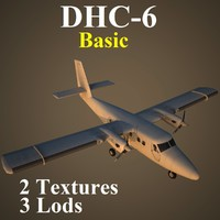 3d havilland basic aircraft model