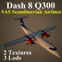 3d bombardier dash 8 sas model