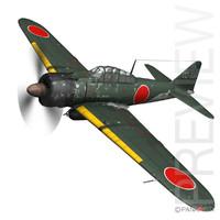 mitsubishi a6m2 sen baku 3d model