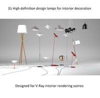 - designer lamps lights 3d max