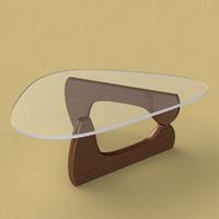 3d model noguchi table