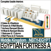 3d egypt middle kingdom fortress