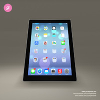 apple ipad 3d obj